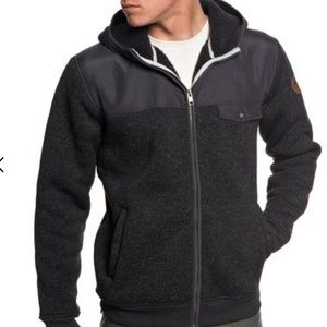 Quiksilver men's Keller Mix Zip-Up Hooded Fleece
